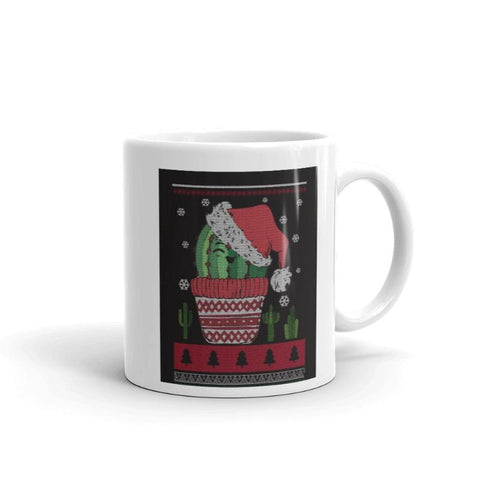 Image of Christmas Cactus Print Coffee Mug