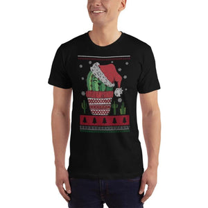 Jolly Cactus Christmas Print T-Shirt