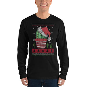 Jolly Cactus Print Christmas Shirt