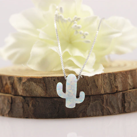 Image of Handmade Opal Cactus Necklace