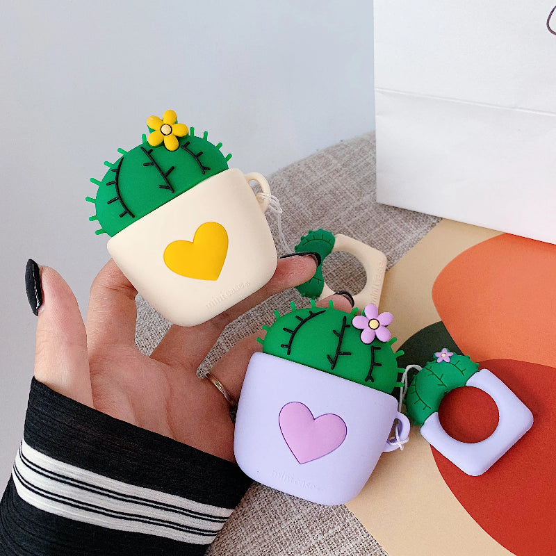 Cute Cactus AirPods Case Covers