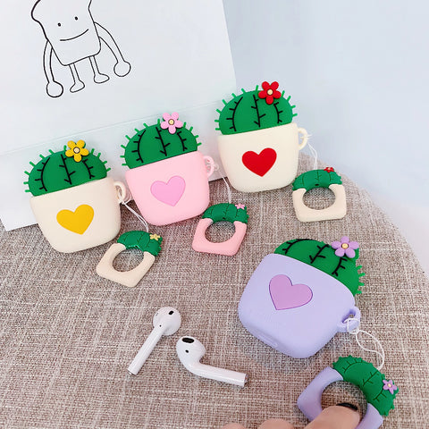 Image of Cute Cactus AirPods Case Covers