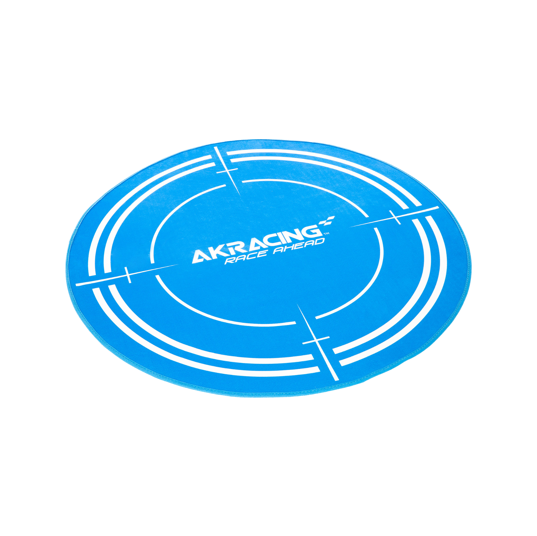 AK Racing Circular Chair Floor Mat - Blue