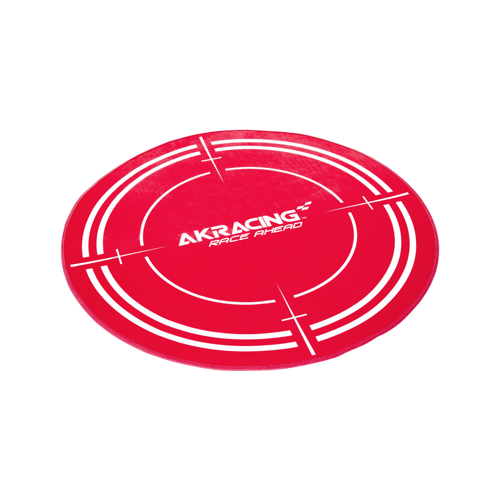 AK Racing Circular Chair Floor Mat - Red