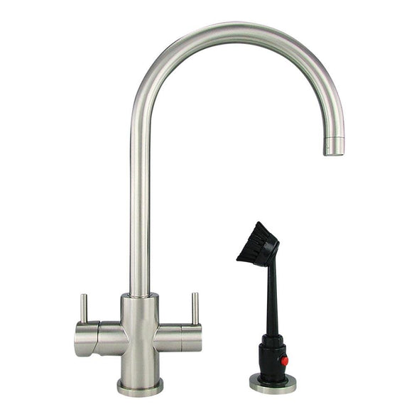 M32170 - Dishmaster M70BNHA Sapphire High Arc, Brushed Nickel - Dishmaster Faucet