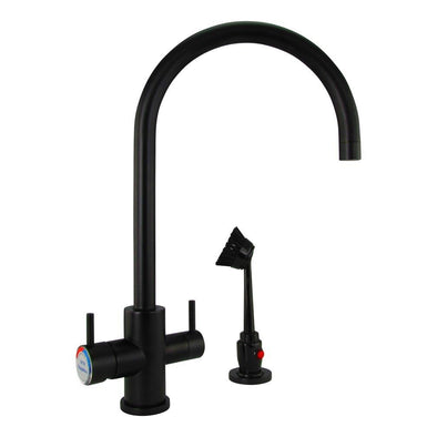 M34170 - Dishmaster M70MBHA Sapphire High Arc, Matte Black - Dishmaster Faucet