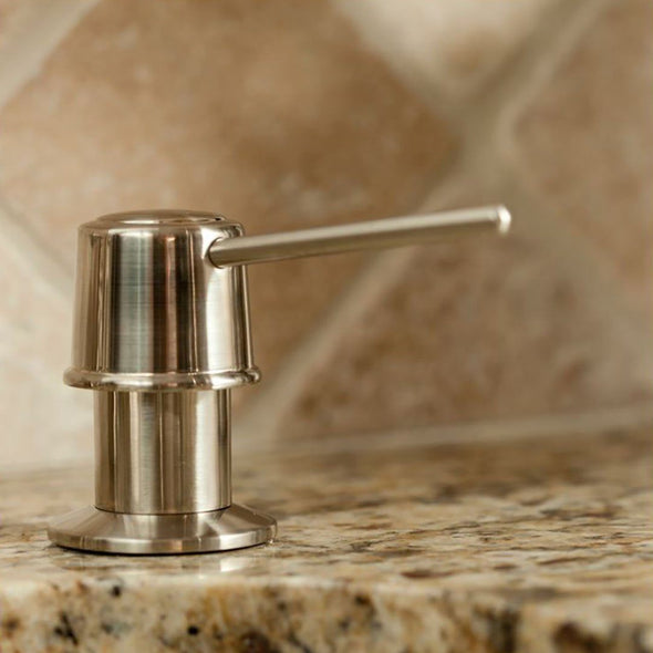 P1001BN - P1001BN Pump Dispenser, Brushed Nickel - Dishmaster Faucet