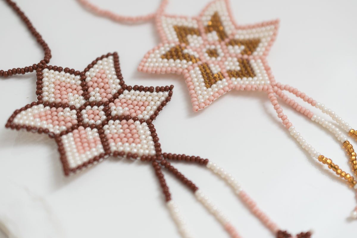 beaded star ornaments - fair trade, woven