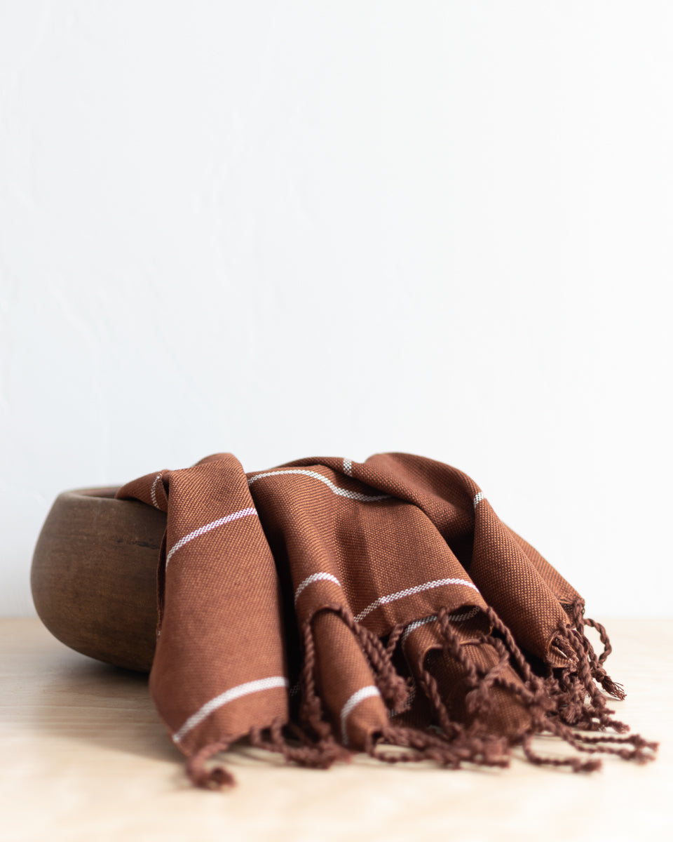 WHOLESALE: Woven Hand Towel in Cinnamon