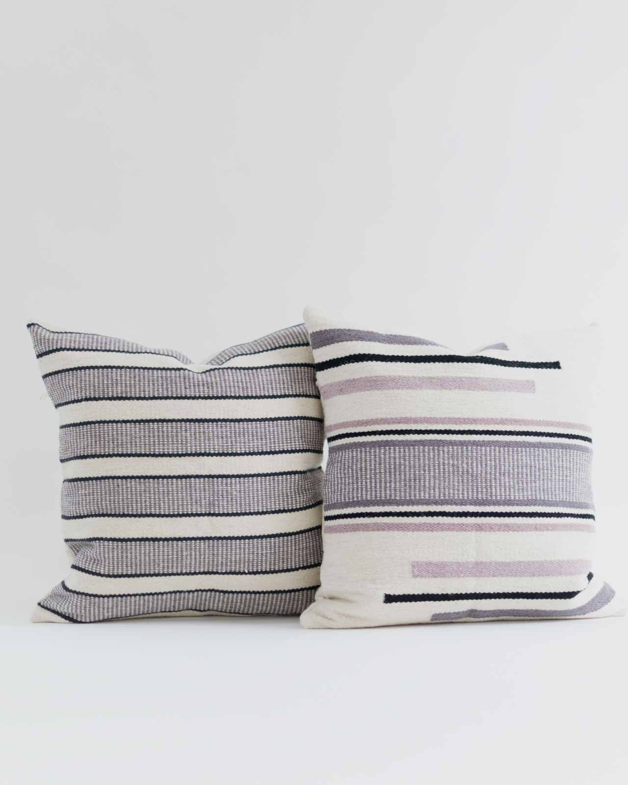 WHOLESALE Woven Striped Grey and Black Pillow Cover