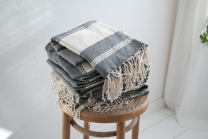 slim fair trade woven towels