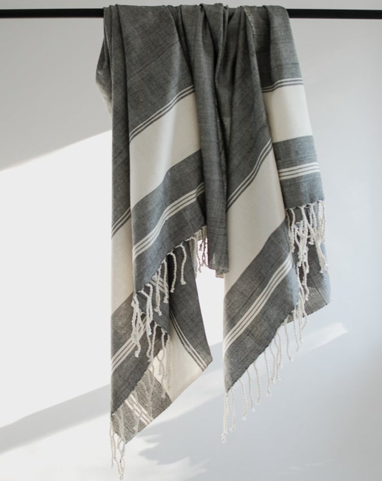 handwoven cotton towel slim fouta fair trade