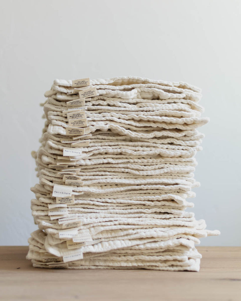 WHOLESALE: Organic Wash Cloths