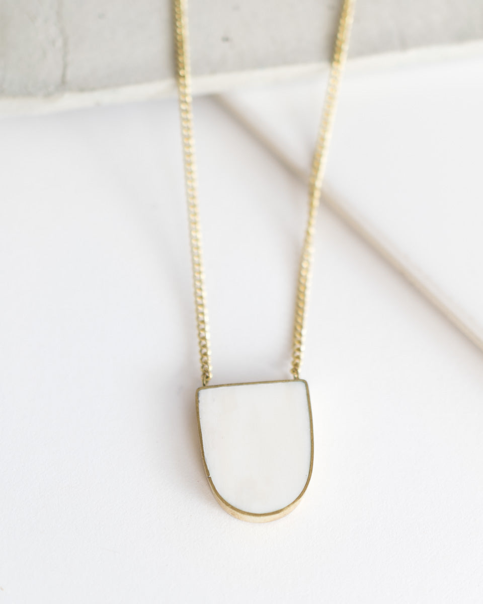 Inset Arch Pendant Necklace