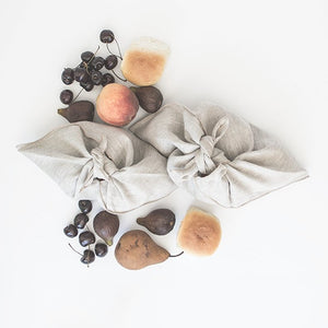 Reusable Linen Market Pouch in Natural