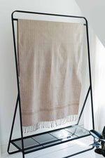 fair trade bath or beach towel woven in tan oversized