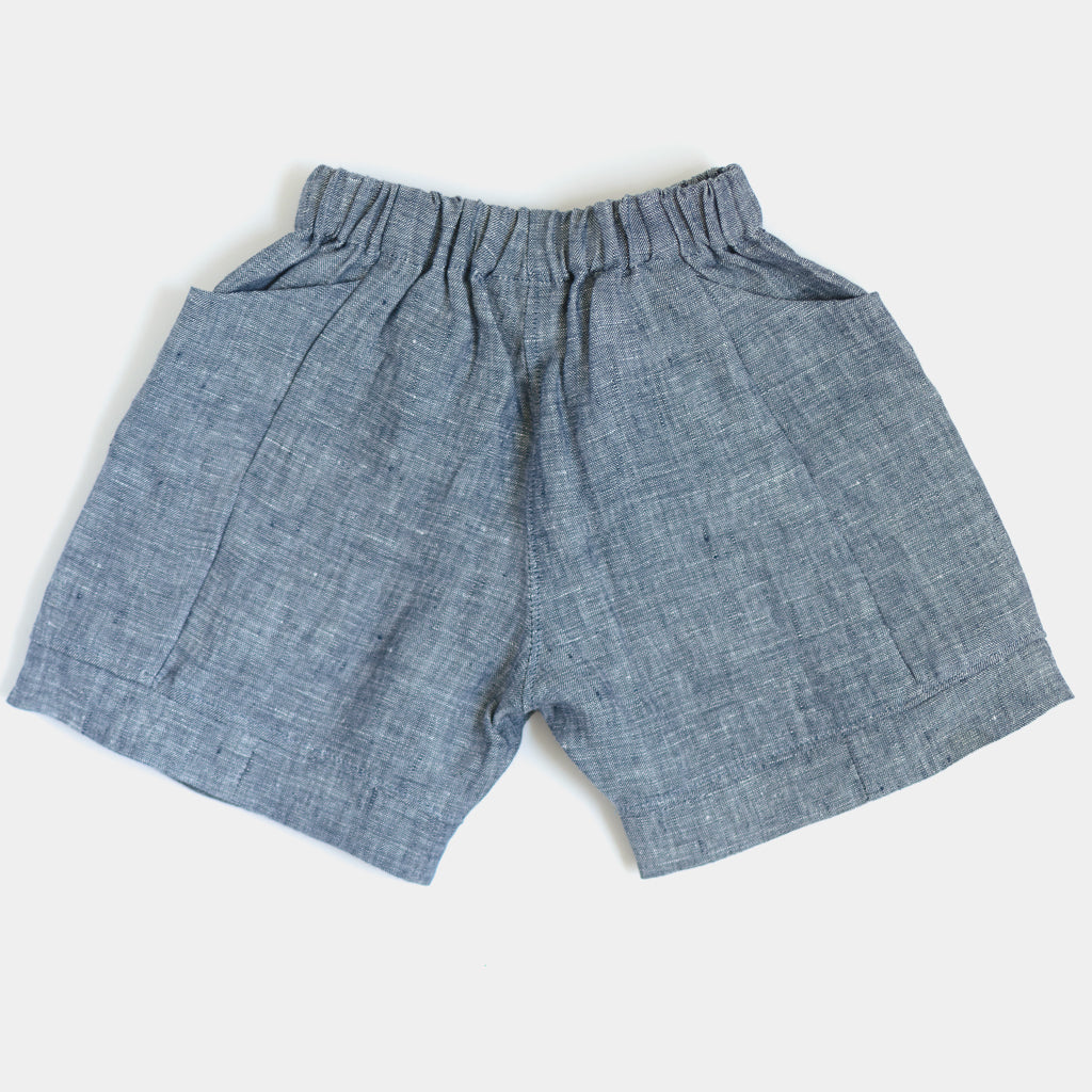 Treasure Shorts - Chambray Blue