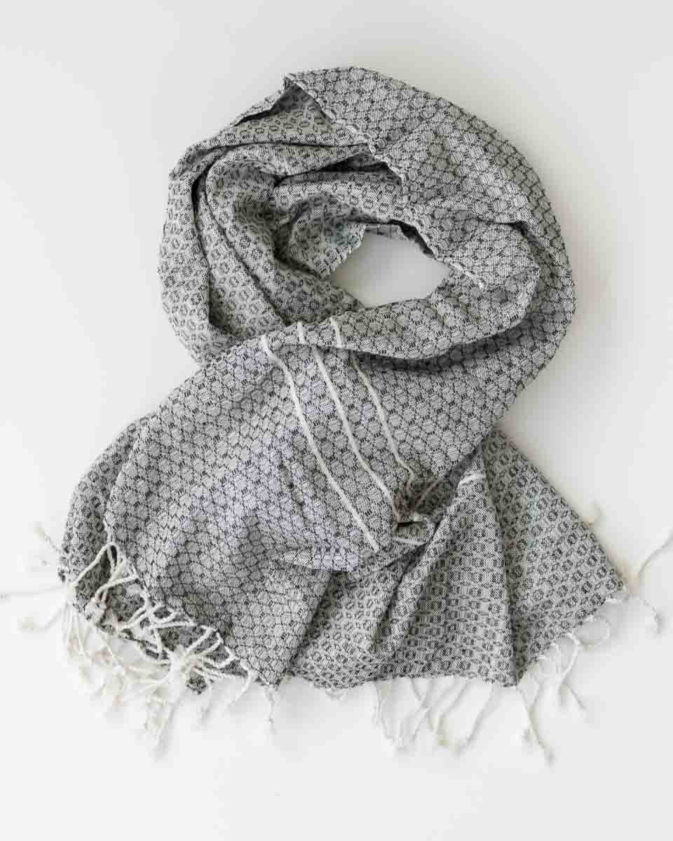 fair trade woven cotton scarf shawl