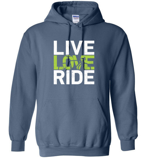 """Live. Love. Ride!"" Cycling Hoodie"