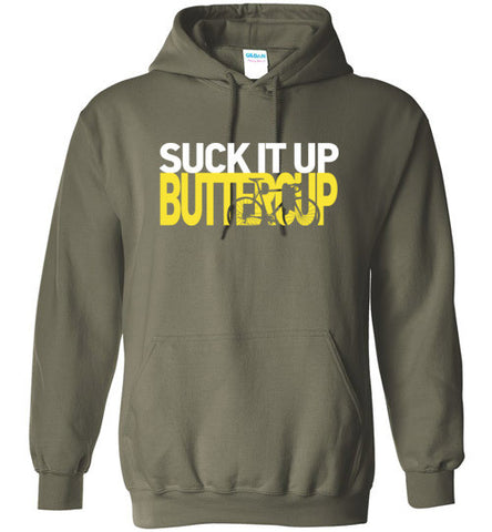 "I Love Road Cycling ""Suck It Up Buttercup"" Hoodie"