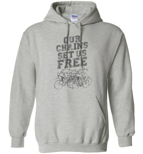 """Our Chains Set Us Free!"" Cycling Hoodie"