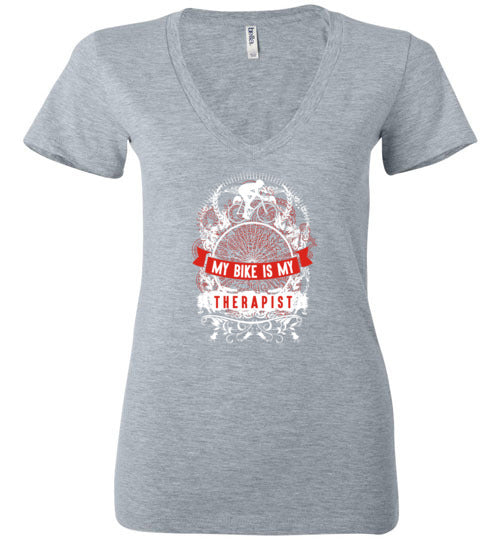 """My Bike Is My Therapist"" Ladies Cycling T-Shirt"