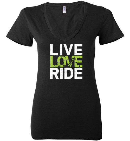 """Live. Love. Ride!"" Ladies Cycling T-Shirt"
