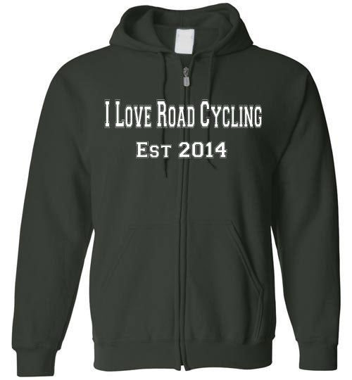 I Love Roady Cycling. Est 2014 Full Zip Hoodie