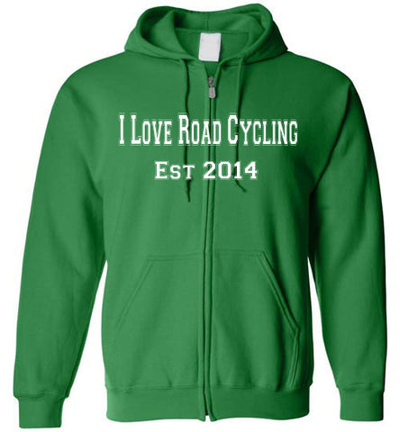 I Love Road Cycling Logo Full Zip Hoodie