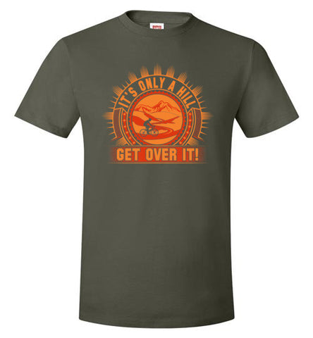 """It's Only A Hill"" Mens Cycling T-shirt"