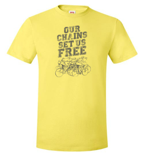 """Our Chains Set Us Free"" Mens Cycling T-Shirt"