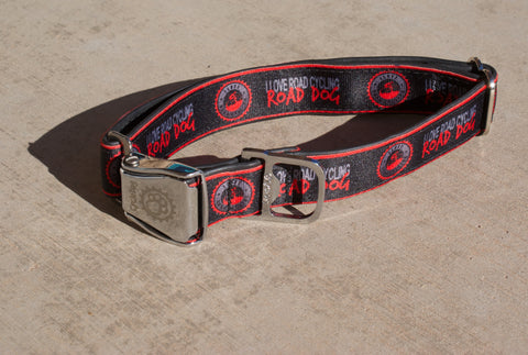"I Love Road Cycling ""ROAD DOG"" Dog Collar"