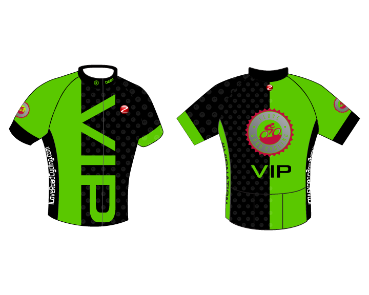 MENS VIP Bold Race Fit Cycling Jersey