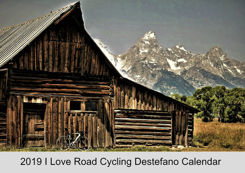 2019 I Love Road Cycling Chris Destefano Wall Calendar Cover