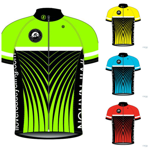 Mens I Love Road Cycling STRIPES Club Fit Cycling Jersey