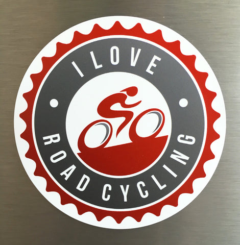 I Love Road Cycling Fridge Magnet - 3 x 3 in.