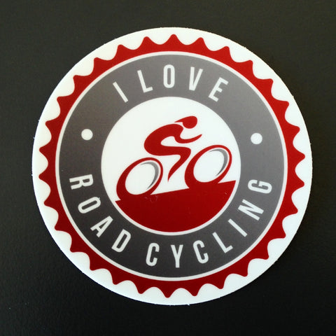 I Love Road Cycling Sticker - 10 pack