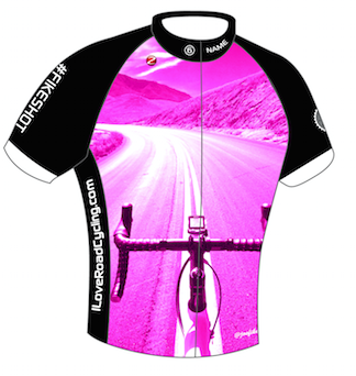WOMENS I Love Road Cycling Fikeshot Club Fit Cycling Jersey-FINAL FOR 2017