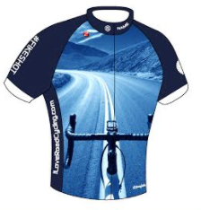 MENS I Love Road Cycling Club Fit Cycling Jersey