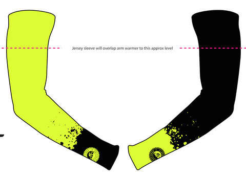 UNISEX I Love Road Cycling Hi Viz Splatter Arm Warmers