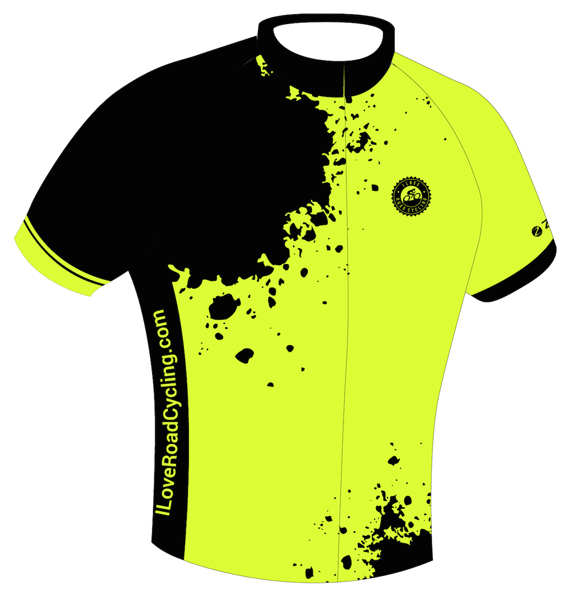 WOMENS I Love Road Cycling Hi Viz Splatter Race Fit Cycling Jersey