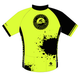 WOMENS I Love Road Cycling Hi Viz Splatter Club Fit Cycling Jersey