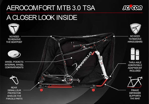 SCICON AeroComfort MTB 3.0 TSA Bike Travel Bag