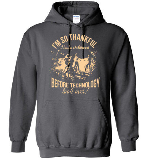 """I'm So Thankful I Had A Childhood"" Cycling Hoodie"