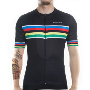 Racmmer PRO FIT Stripes Short Sleeve Cycling Jersey