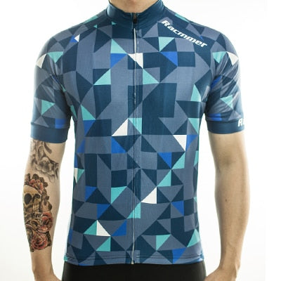 Racmmer Triangles Short Sleeve Cycling Jersey