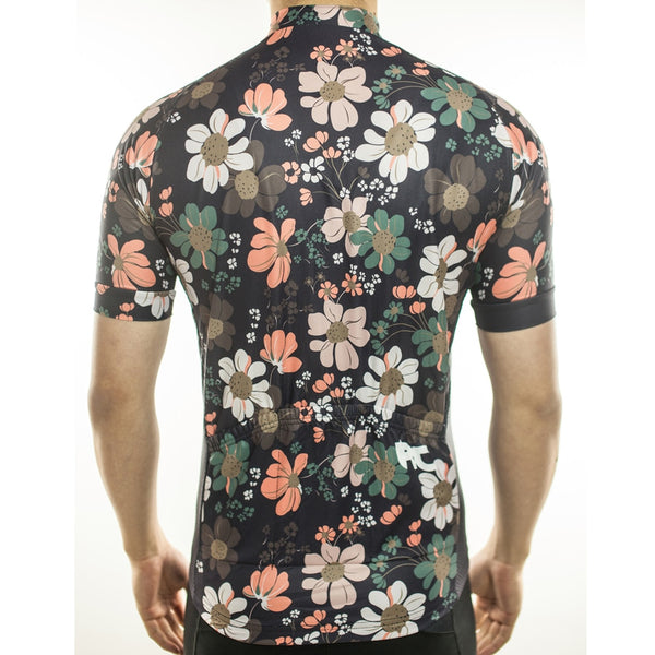 Racmmer Floral Short Sleeve Cycling Jersey