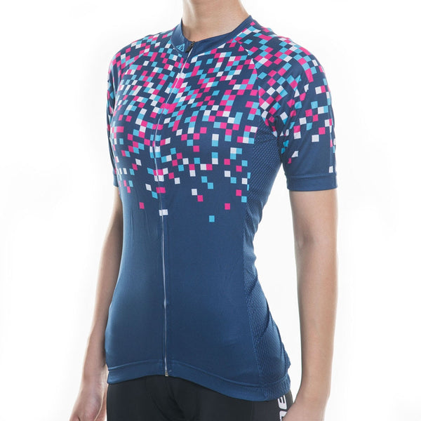 Womens Racmmer Pixel Short Sleeve Cycling Jersey