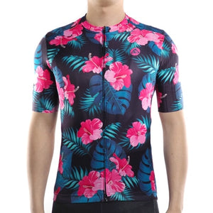 Racmmer PRO FIT Hawaiian Sunrise Short Sleeve Cycling Jersey