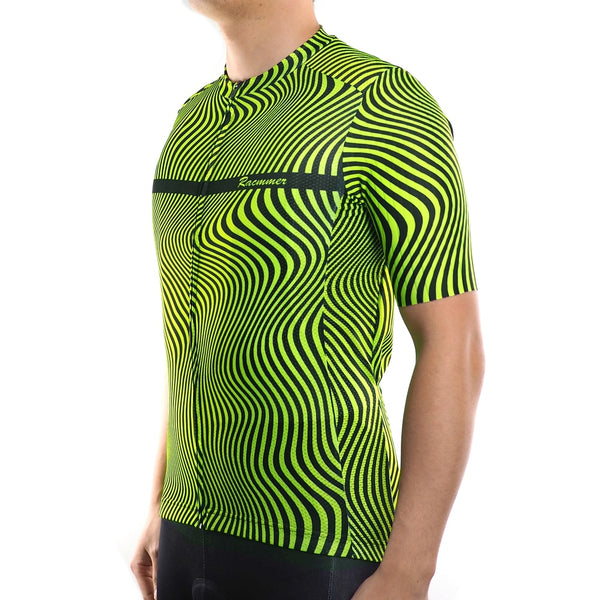 Racmmer PRO FIT Fluorescent Short Sleeve Cycling Jersey